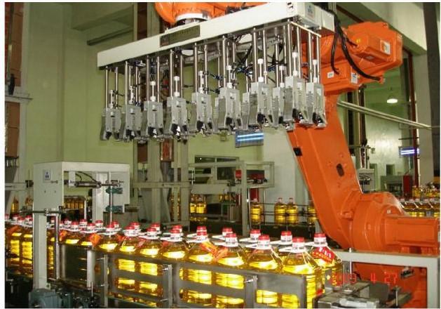 自动食用油装箱机